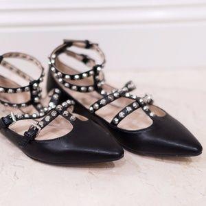 Zara Studded Ballet Flats
